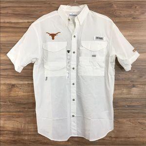 Columbia Texas Longhorns Bonehead PFG Shirt New